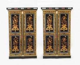 06443-Antique-Pair-French-Marquetry-Cabinets-Wardrobes-c.1910-1