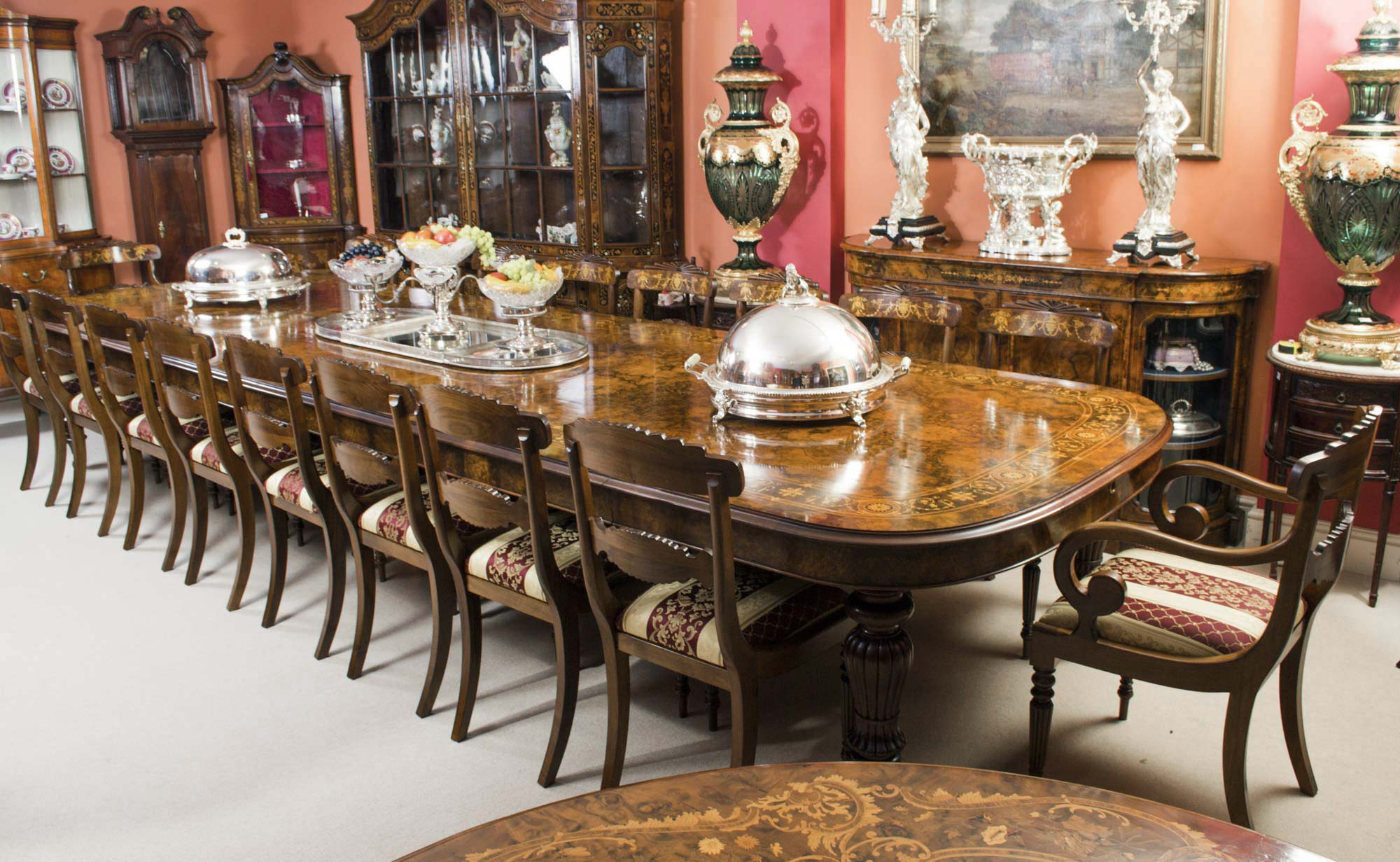 Antique dining table do you want to go large with that for Biggest dining table