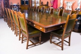 06184-Antique-5m-Victorian-Boardroom-Table-&-16-Chairs-c.1850-1