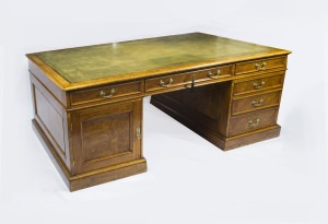 07088-Antique-6ft-Edwardian-Pollard-Oak-Partners-Pedestal-Desk-C1900-1 (1)