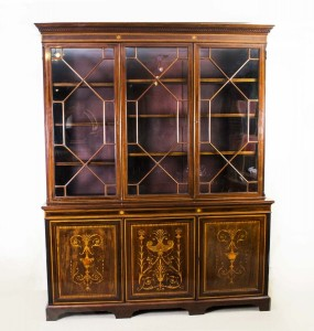 06384-Antique-Edwardian-Mahogany-Bookcase-by-Shoolbred-c.1900-1 (3)