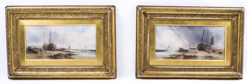 07631-antique-pair-oil-paintings-coastal-scenes-w-a-wall-19th-c-1