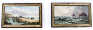 07632-antique-pair-oil-paintings-fishing-boats-j-j-wilson-19th-c-1-1