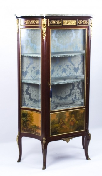 Antique French Vernis Martin Vetrine Display Cabinet