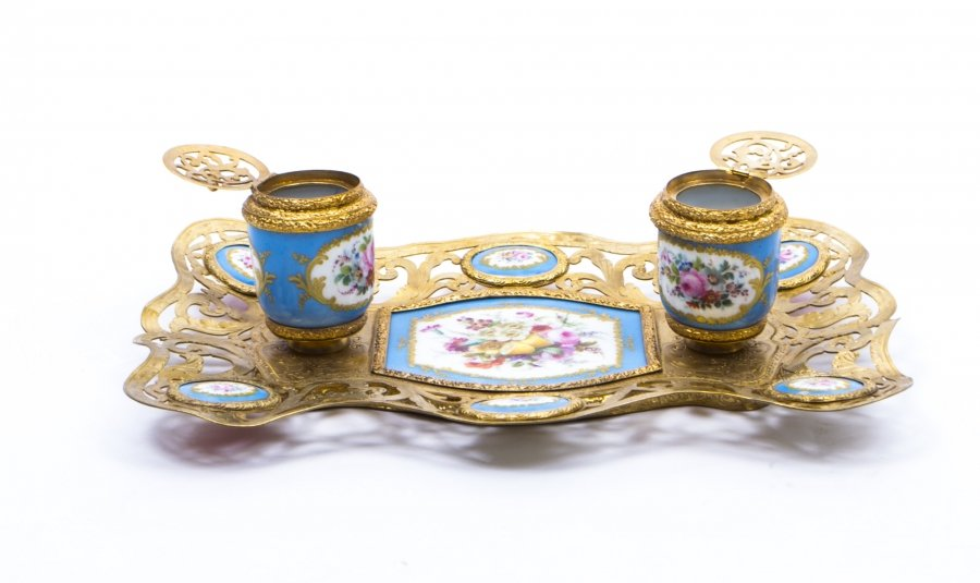 Magnificent Examples of Blue Celeste Antique French Sevres Porcelain