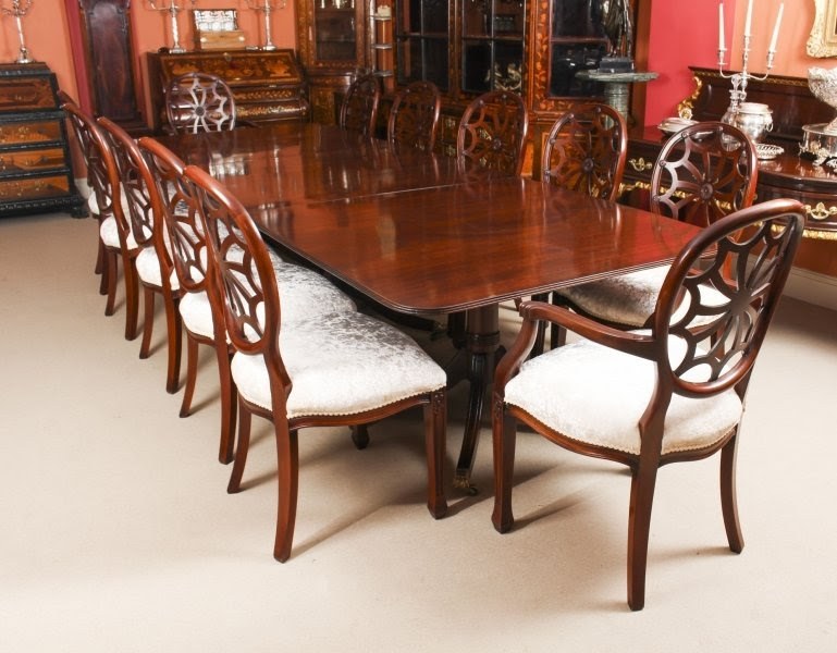 Three Superb Antique Dining Table and Chairs Sets