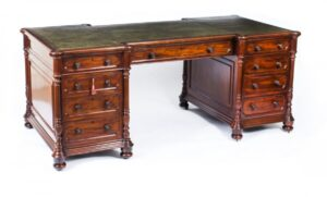 Functional and Stylish Antique Partners Desks