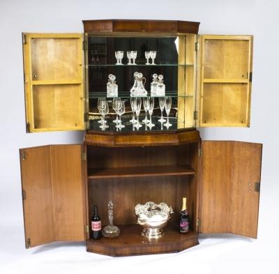 antique art deco burr walnut cocktail cabinet dry bar ebay. Black Bedroom Furniture Sets. Home Design Ideas