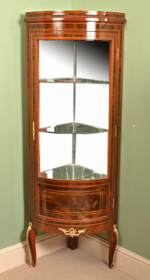 mahogany display cabinet louis xvi style mahogany glass corner display cabinet 3954