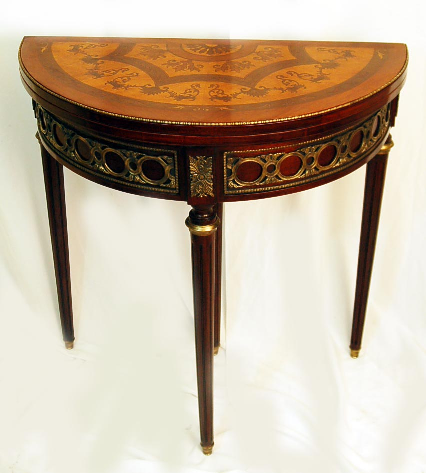 French empire round card table w ormolu mounts ref no 00548