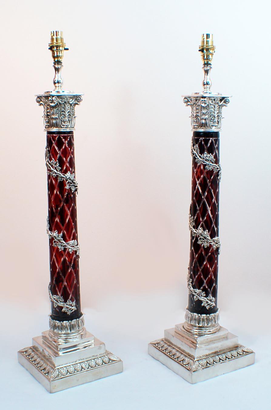 Pair Corinthian Column Ref No 00558 Regent Antiques