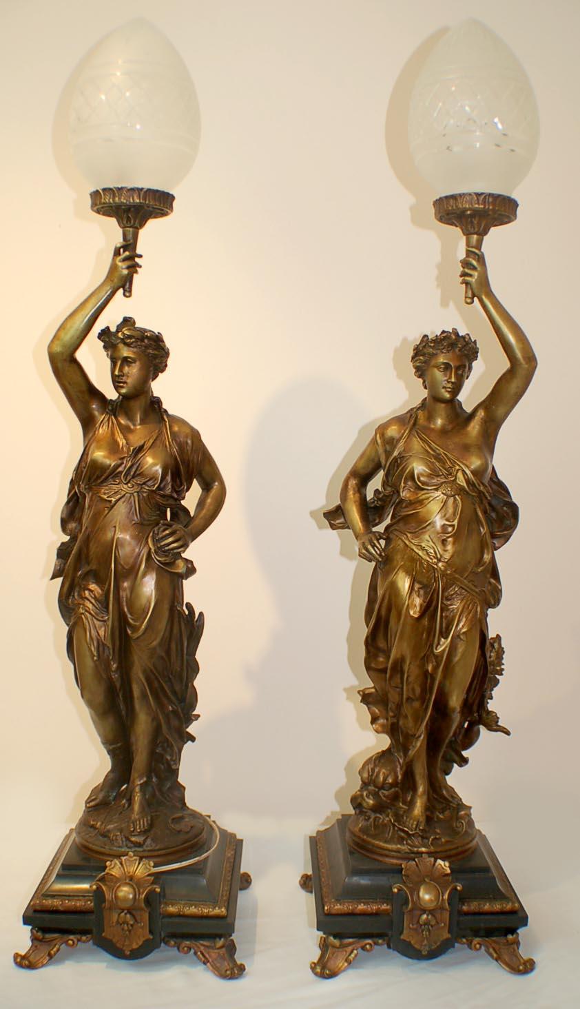Stunning Pair Bronze Ref No 00566 Regent Antiques