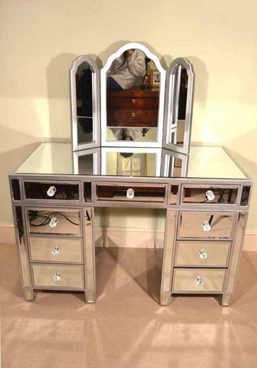 Nice Gorgeous Art Deco Mirrored Dressing Table With Mirror