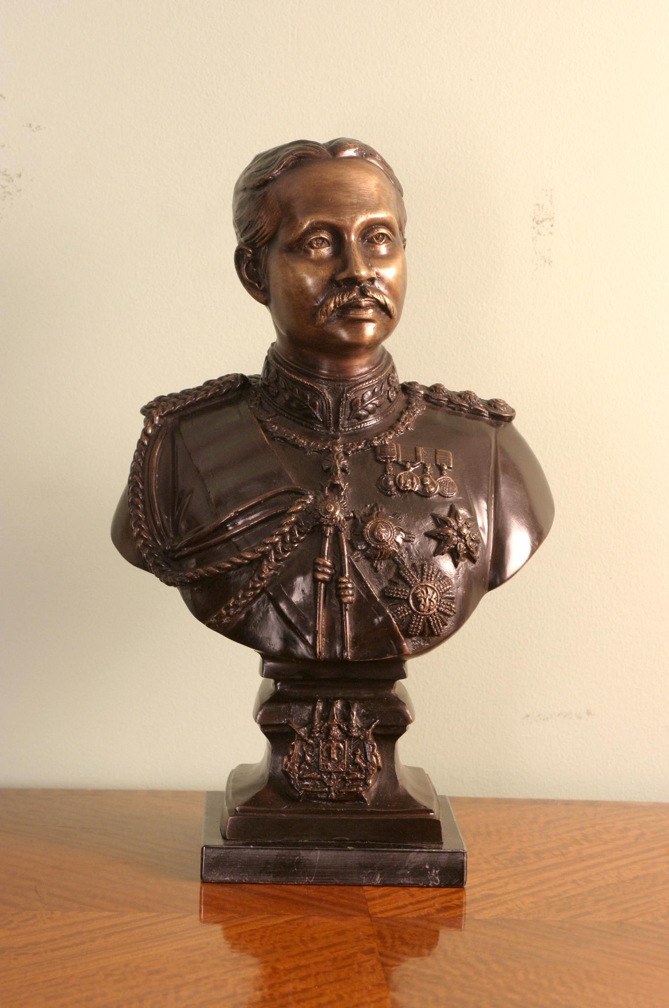 Bronze Bust Of Rama V Ref No 00977 Regent Antiques