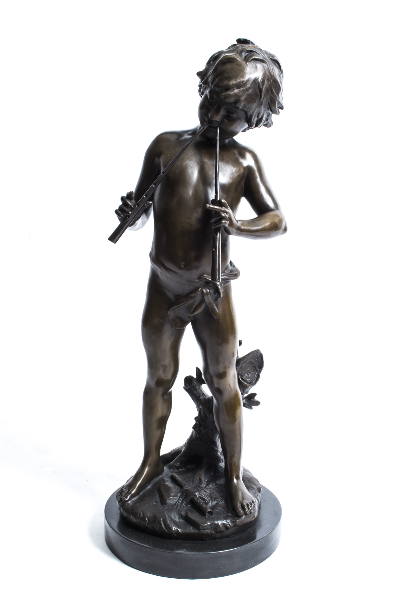 Bronze Sculpture Of Boy Ref No 00999 Regent Antiques