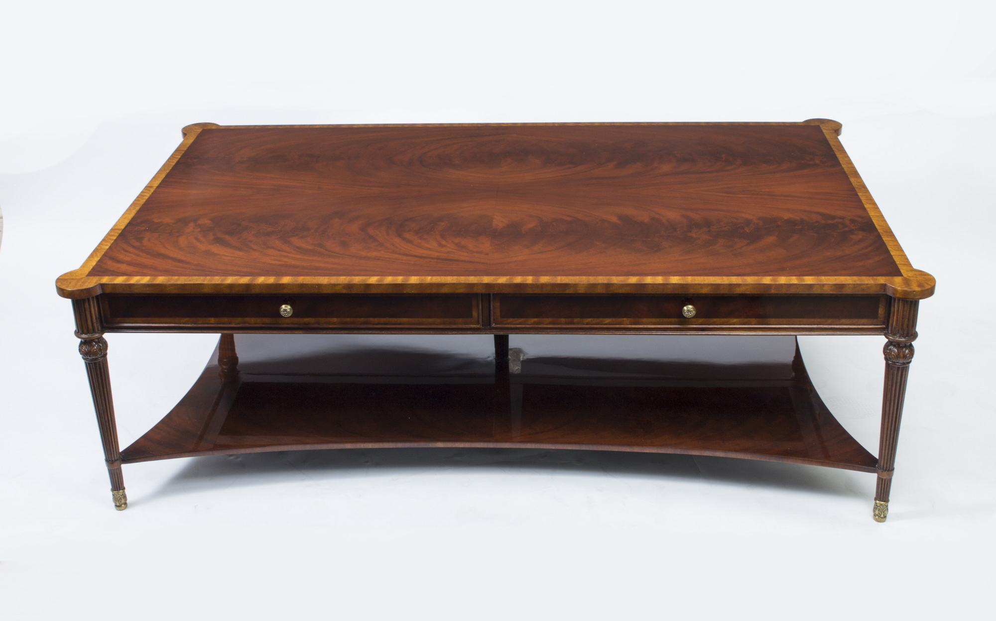 Regent Antiques Occasional And Side Tables Stunning Flame Mahogany Coffee Table With Two Drawers