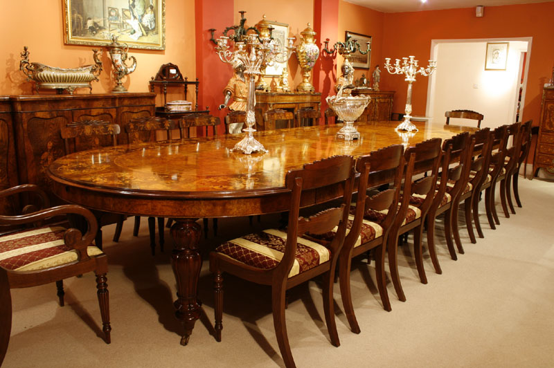 Large Marquetry Dining Table Amp Chairs Set Bespoke