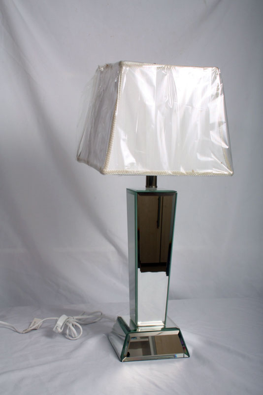 Stunning Art Deco Mirrored Table Lamp Ref No 01464