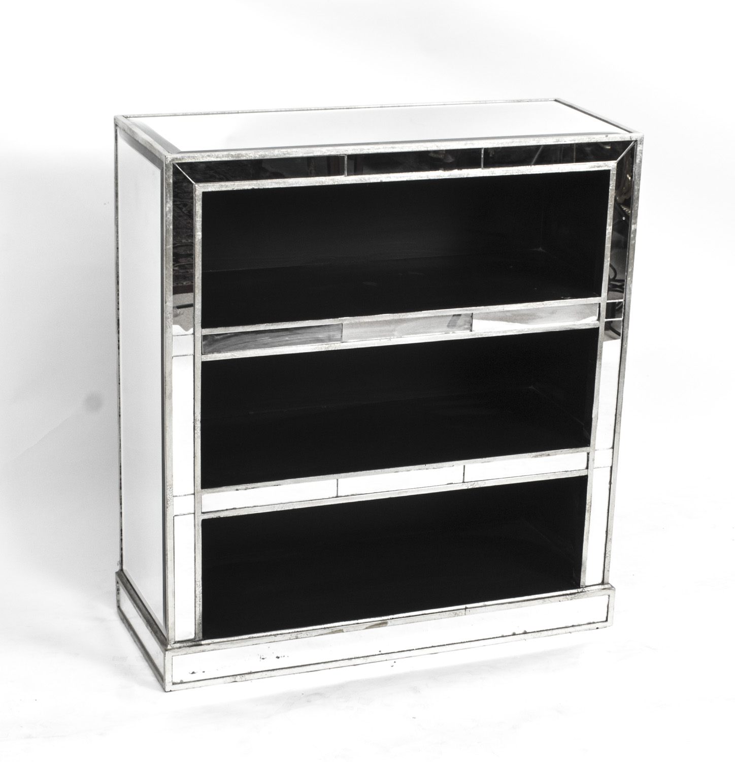 - Attractive Art Deco Mirrored Bookcase DVD CD Holder Late 20th C