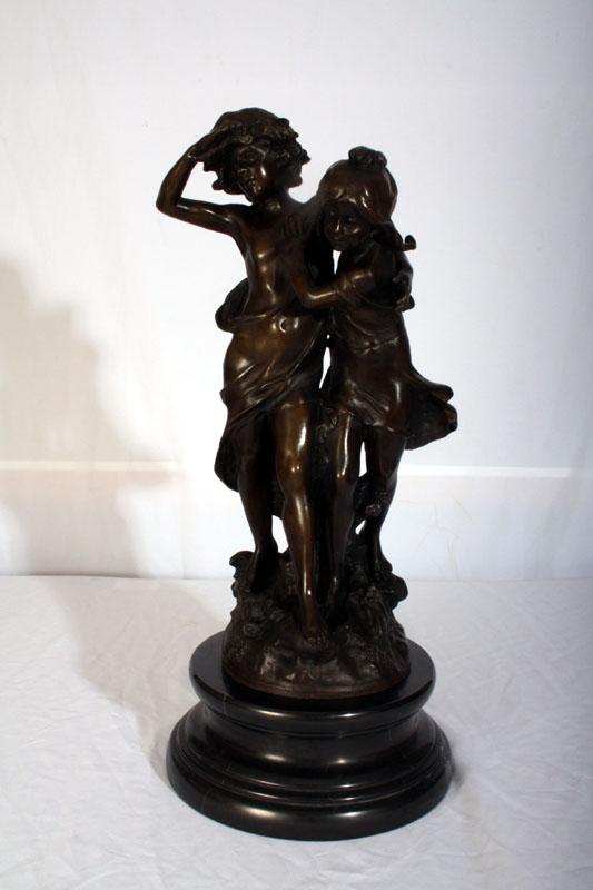 Stunning Bronze Brother Ref No 01569 Regent Antiques
