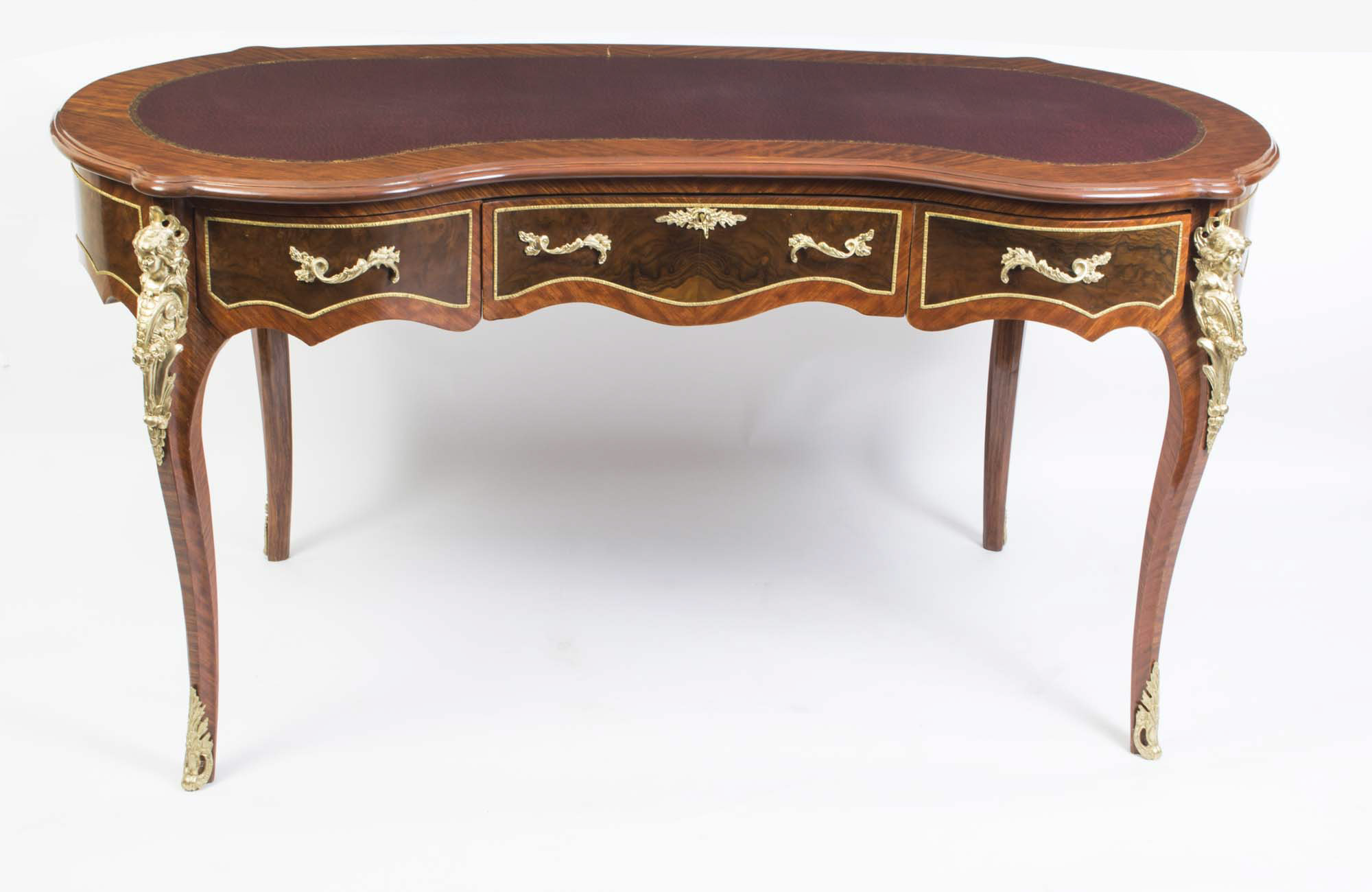regent antiques desks and writing tables elegant french louis xv style kidney writing table desk. Black Bedroom Furniture Sets. Home Design Ideas