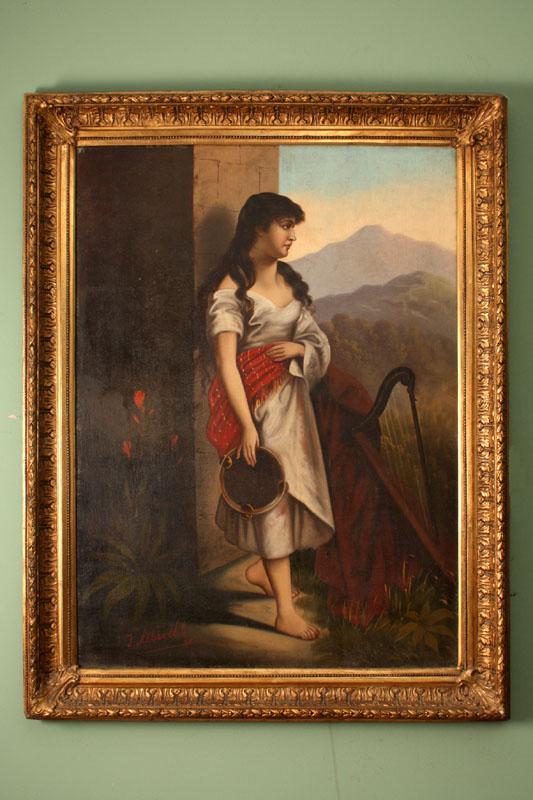 Regent Antiques Paintings and prints Antique paintings  : 01720 Antique Oil Paintings landscapes with women J Albrecht 1 from regentantiques.com size 533 x 800 jpeg 117kB