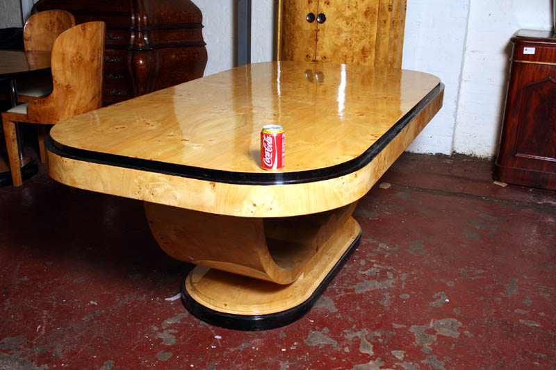 and chair sets large art deco birdseye maple dining table seats 8 art deco dining table 8