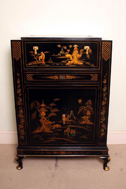 antique art deco lacquered cocktail bar ref no 02145. Black Bedroom Furniture Sets. Home Design Ideas