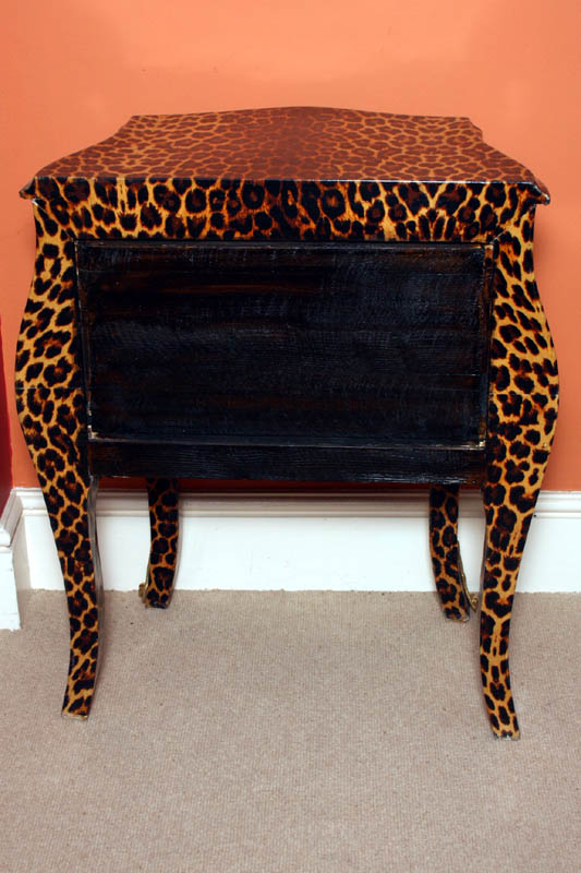 Regent antiques chests funky chic leopard pattern for Funky bedside cabinets