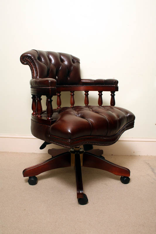 Desk Chairs Desk Chairs English Hand Made Leather Captains Desk