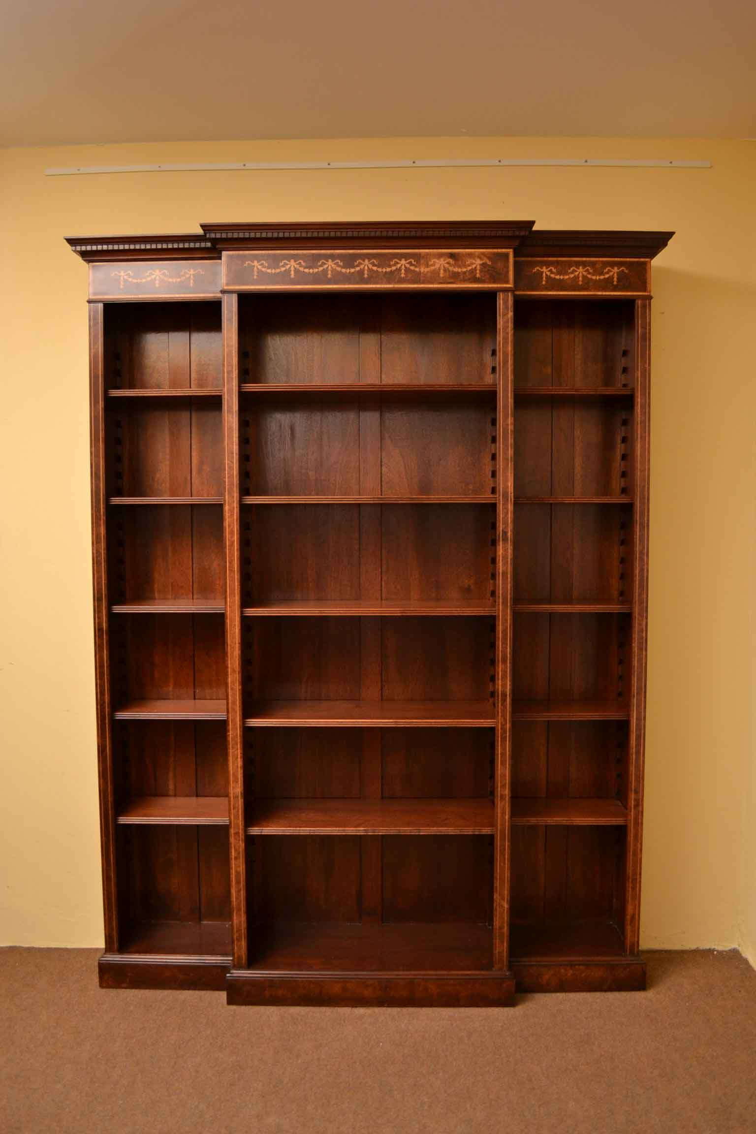 Regent Antiques Bookcases Sheraton Breakfront Open