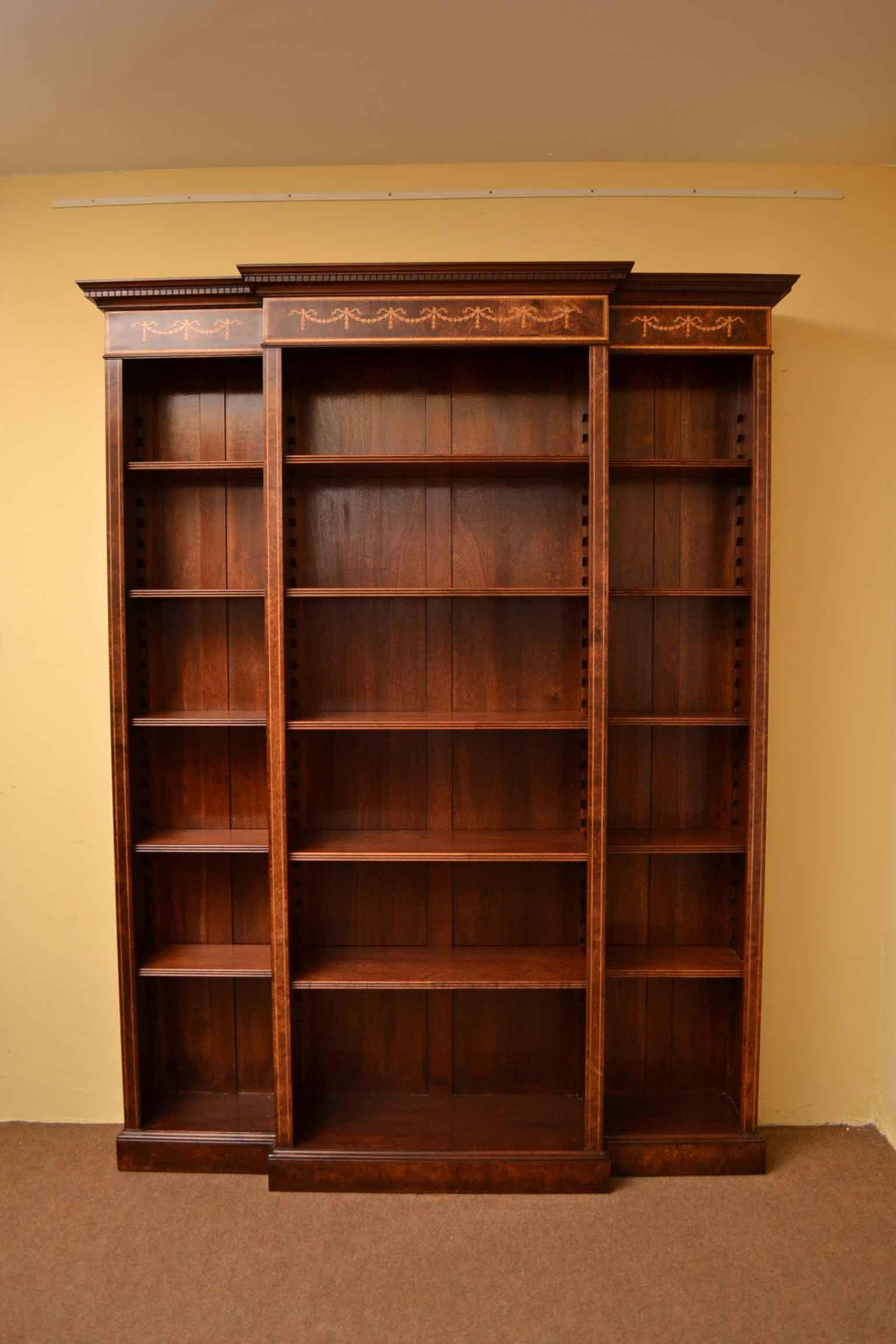 Regent Antiques - Bookcases - Sheraton Breakfront Open ...