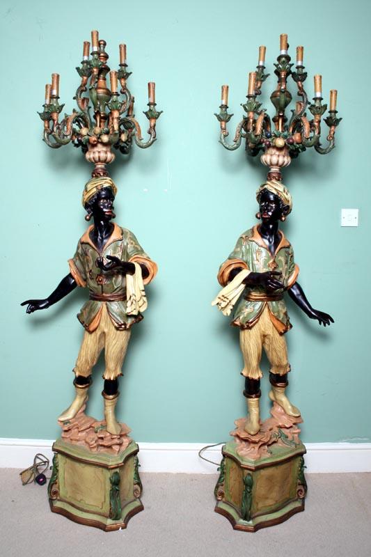 Pair Venetian Blackamoor Ref No 02626 Regent Antiques