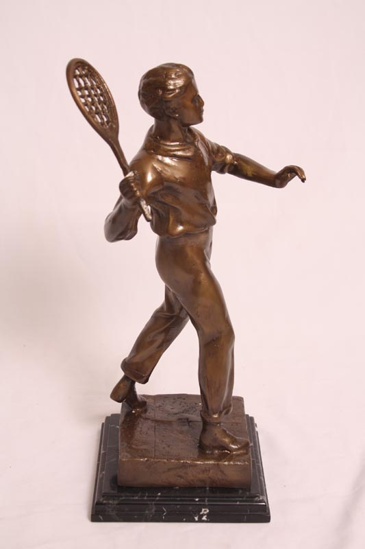 Regent Antiques Bronzes Pair 1930s Tennis Player