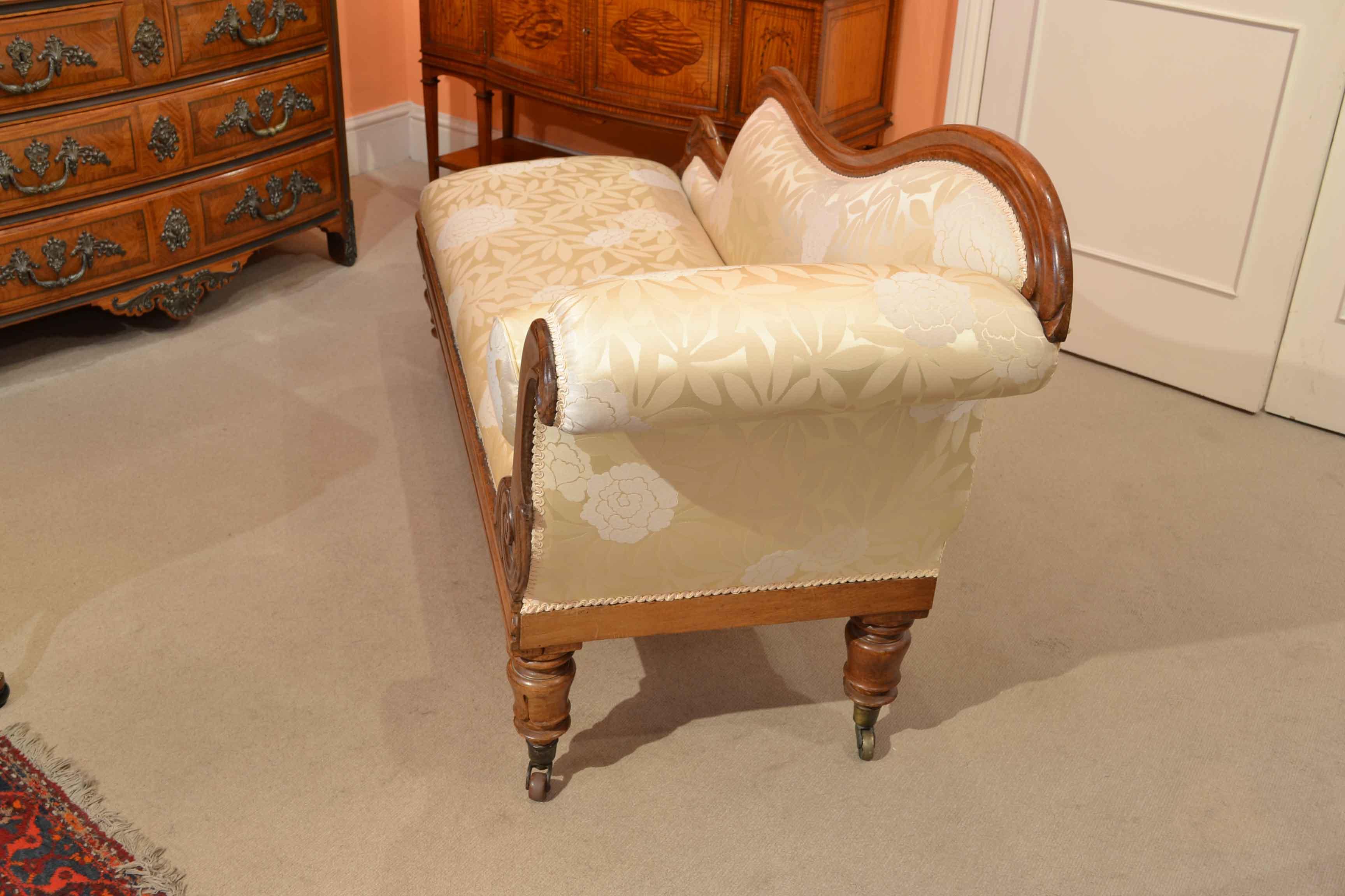 regent antiques sofas and stools antique william iv chaise longue sofa circa 1830. Black Bedroom Furniture Sets. Home Design Ideas