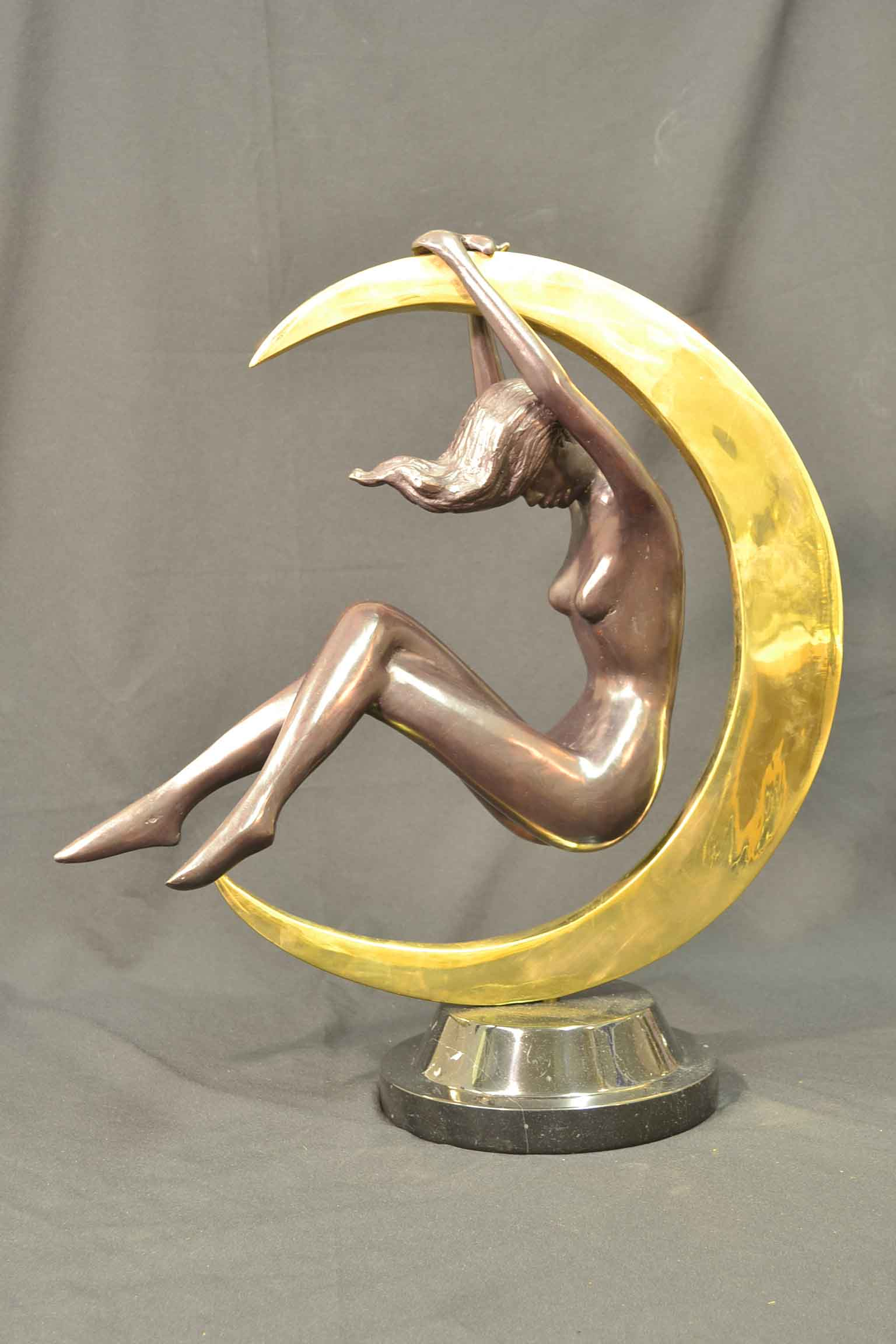 Regent Antiques Bronzes Stunning Bronze Sculpture of Beautiful Moon Dancer