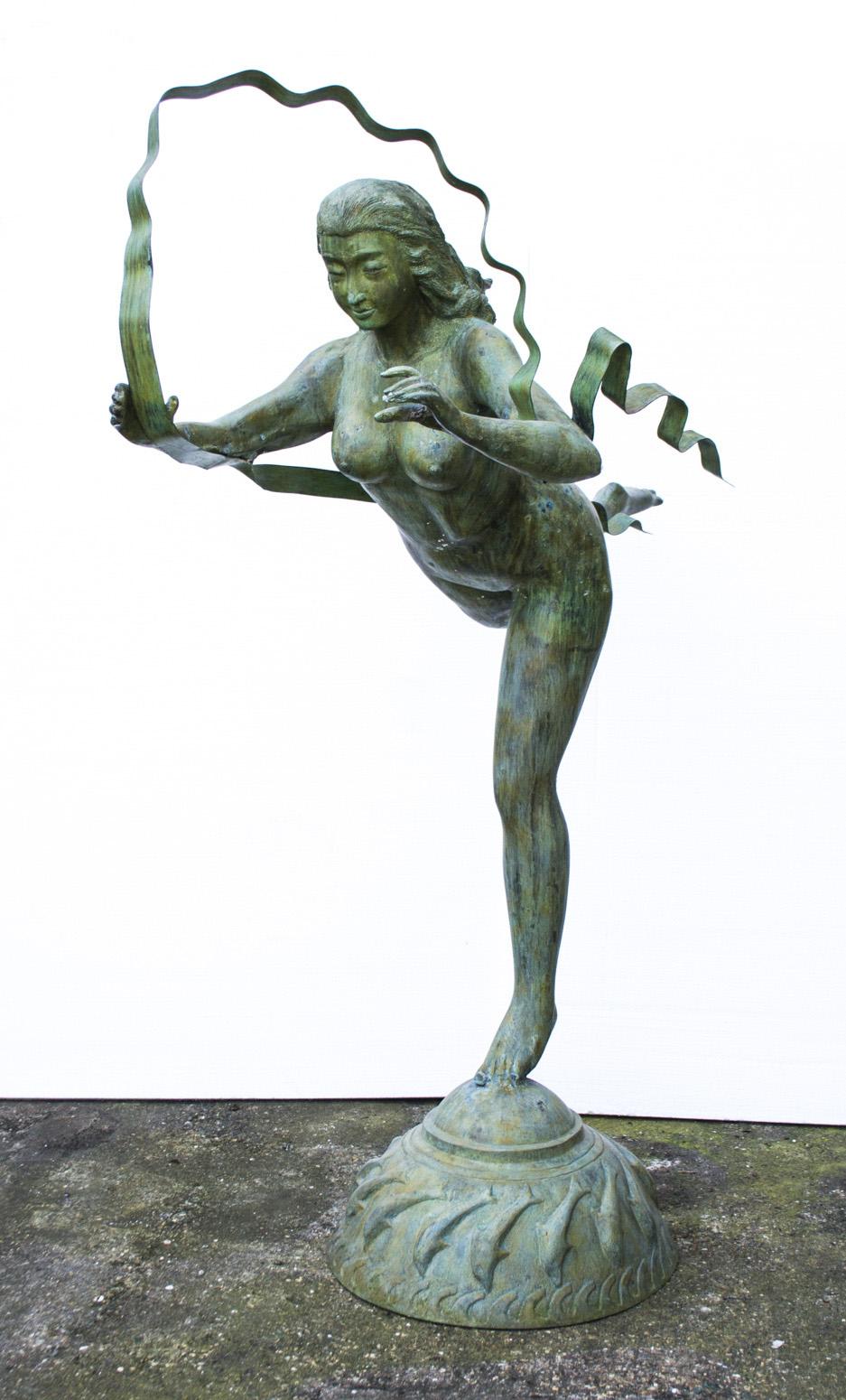 regent antiques bronzes life size bronze asian dancer garden statue