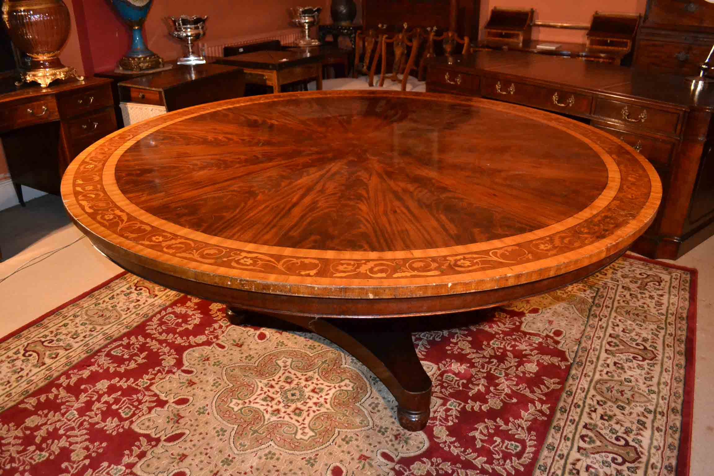 Regent antiques dining tables and chairs tables for 6 foot round dining table