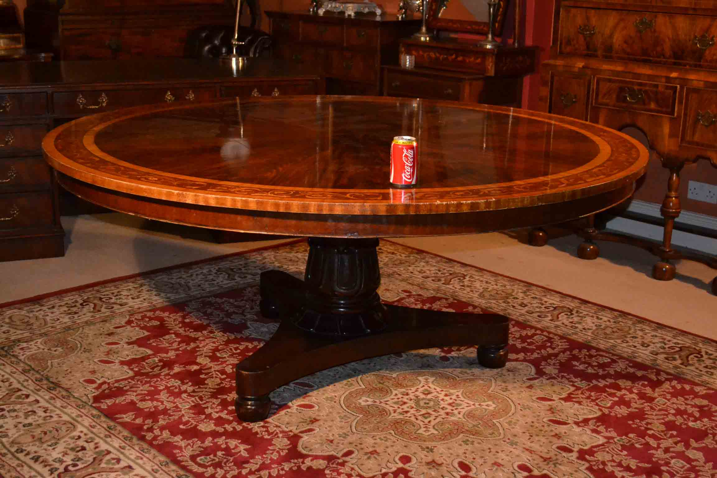 Regent antiques dining tables and chairs table and for Round dining table set for 6