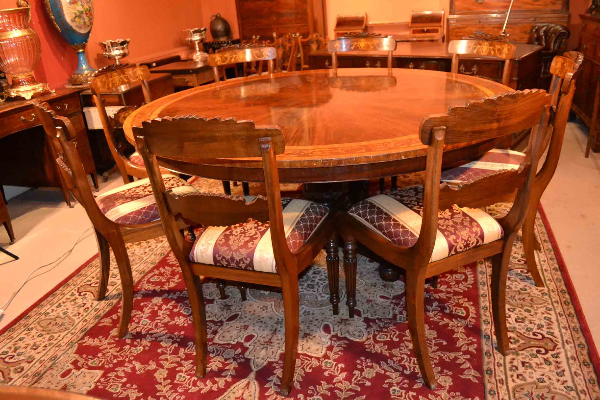 Regent antiques dining tables and chairs table and for 6ft round dining table