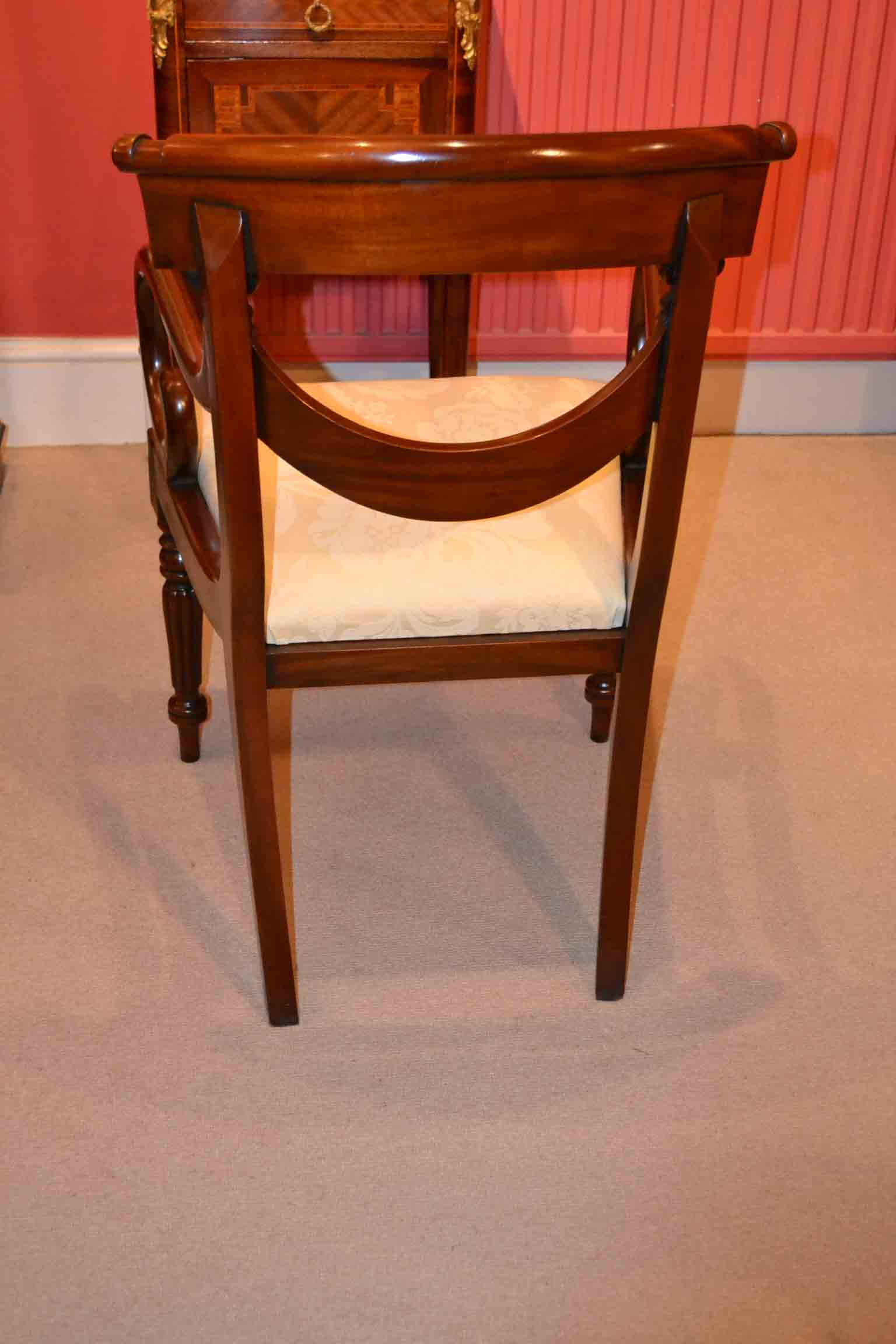 Regent Antiques Dining Tables And Chairs Dining Chairs Grand Set 14 English Regency Drape