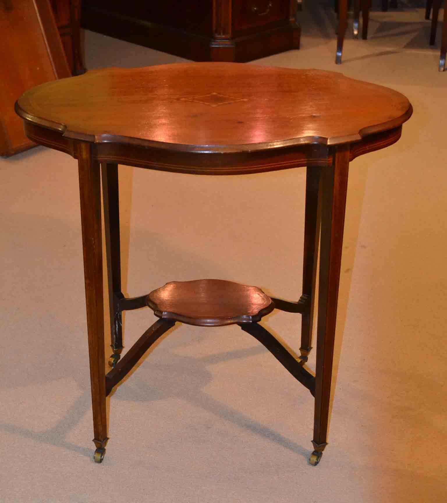 Antique Inlaid Marble Table : Regent antiques occasional and side tables antique