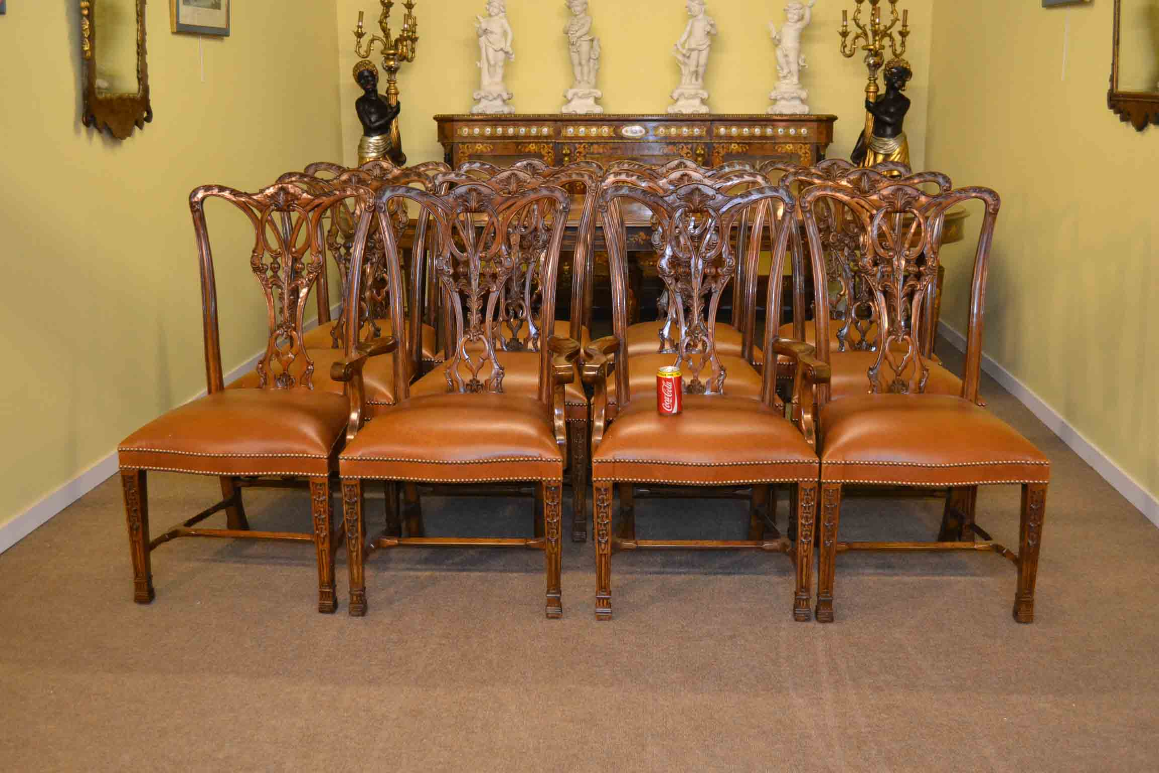Regent antiques dining tables and chairs dining chairs for Beautiful dining table set
