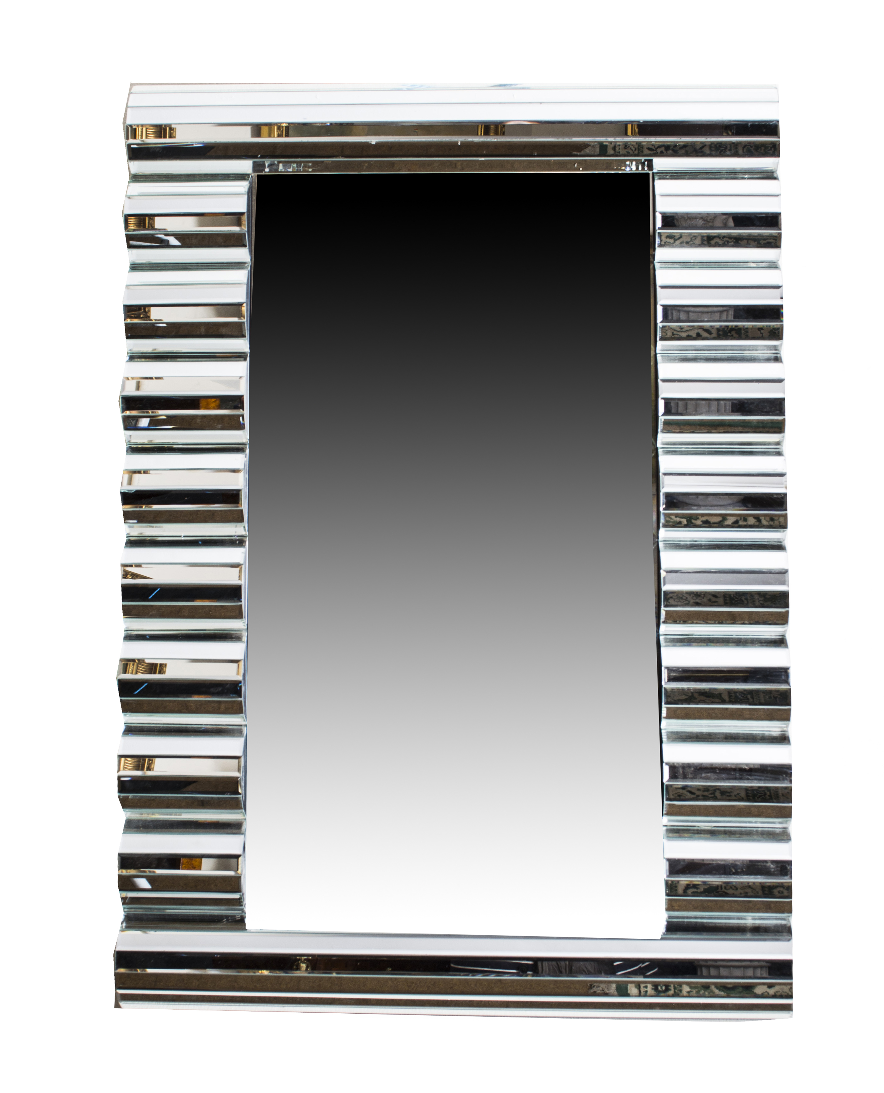 Stunning rectangular art deco wave pattern mirror 120 x for Mirror 120 x 80