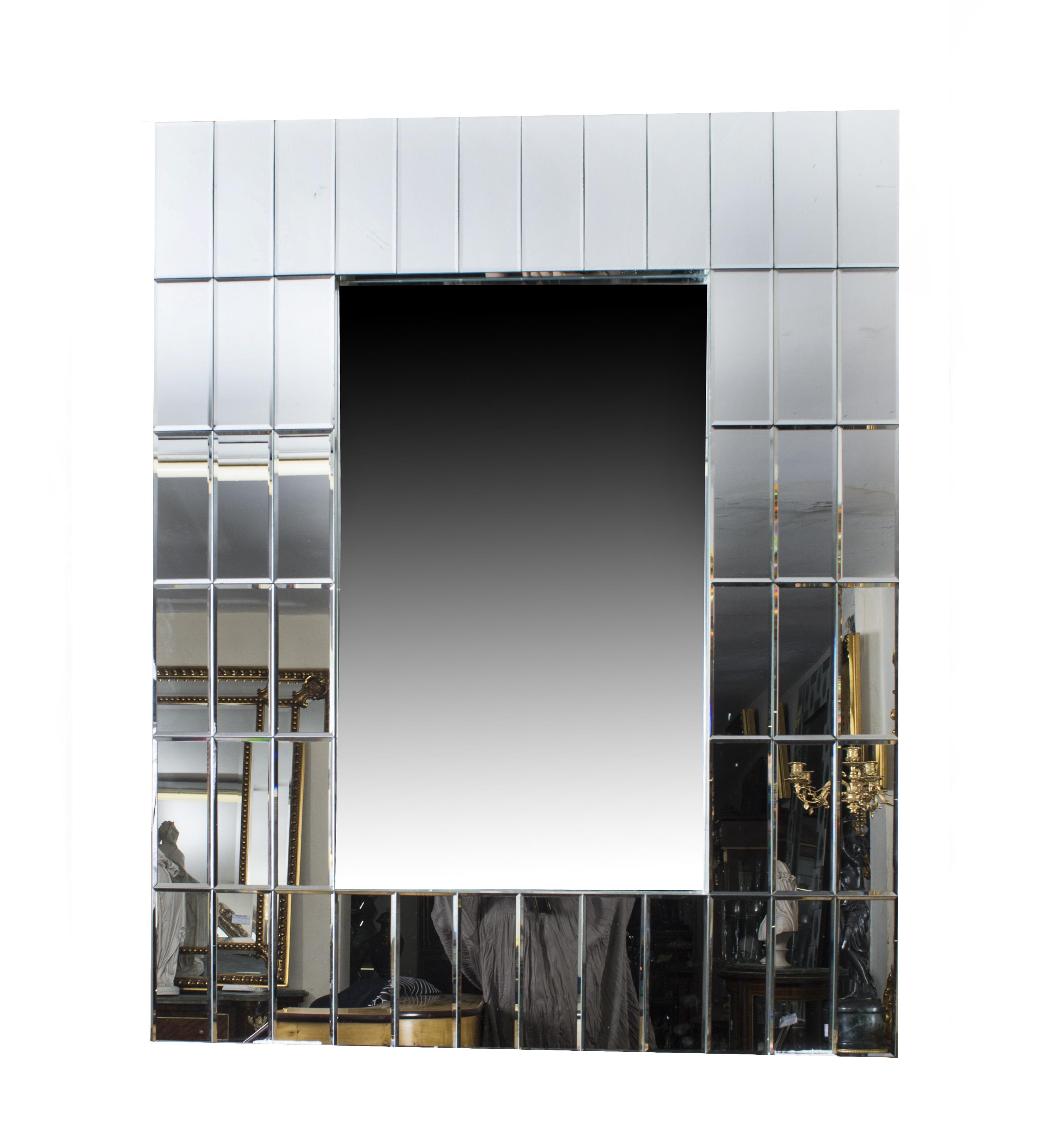 Super chic large rectangular art deco mirror 120 x 90 cm for Miroir 90 x 120