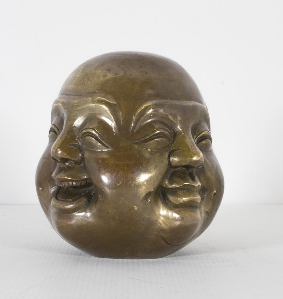 Small Bronze Four Face Ref No 03570 Regent Antiques