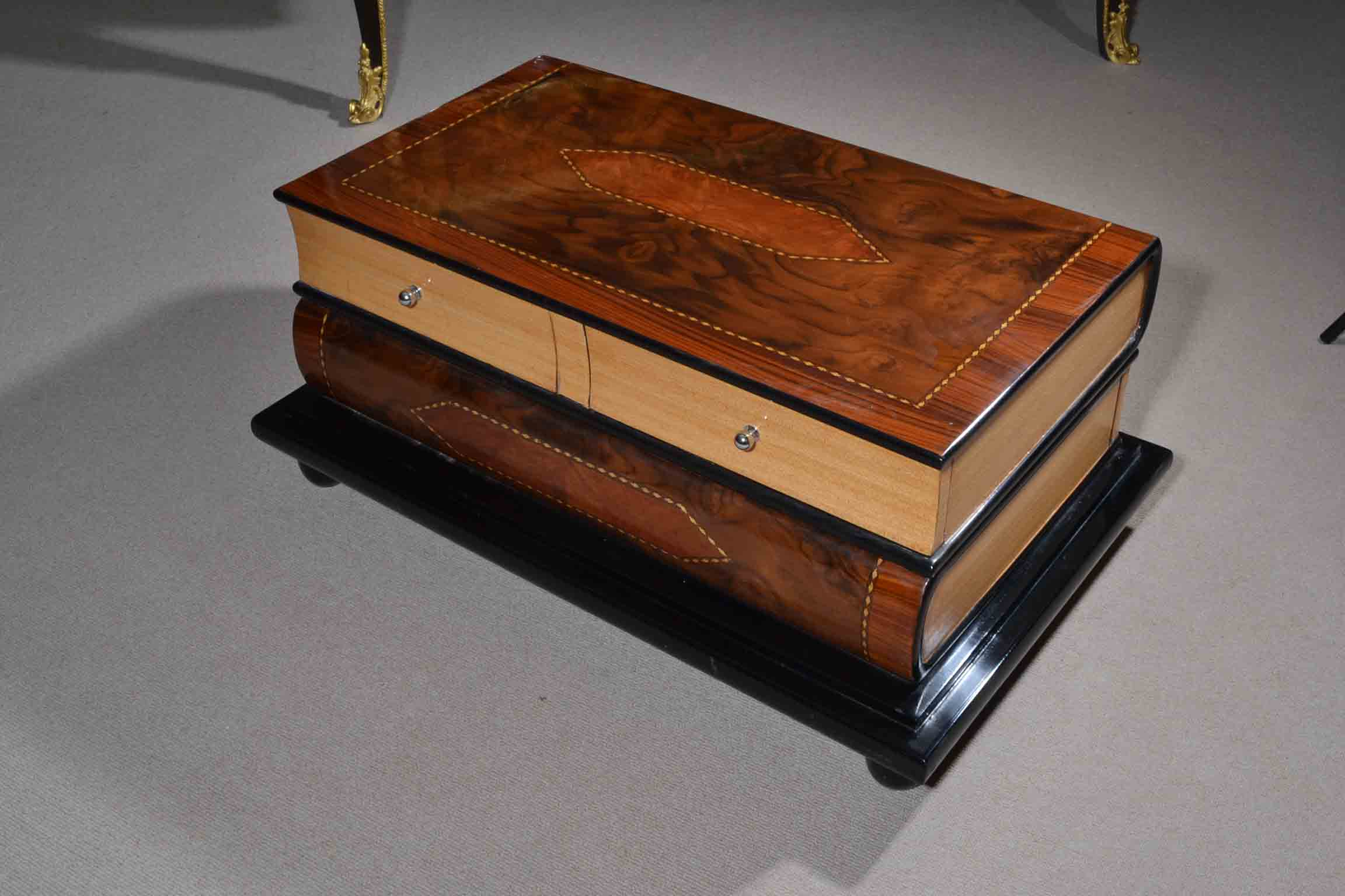 Regent antiques coffee tables unusual inlaid burr for Weird tables