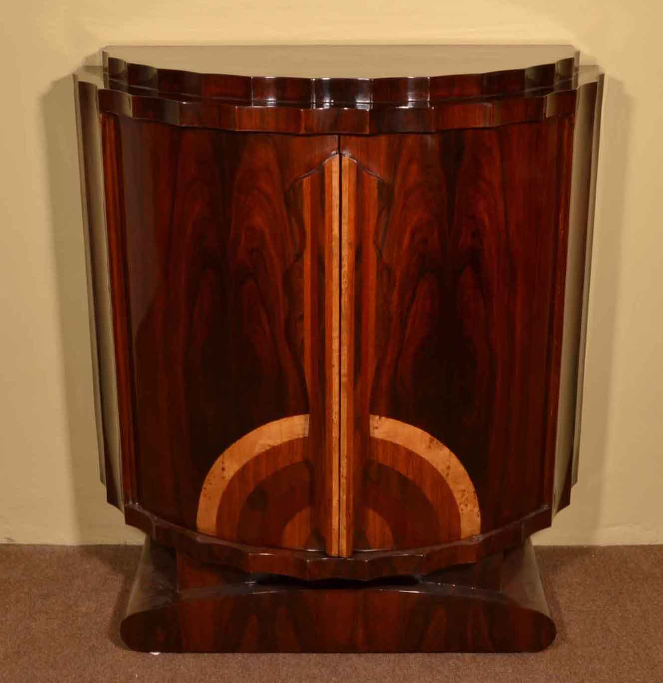 Fantastic Art Deco Rosewood Drinks Cabinet