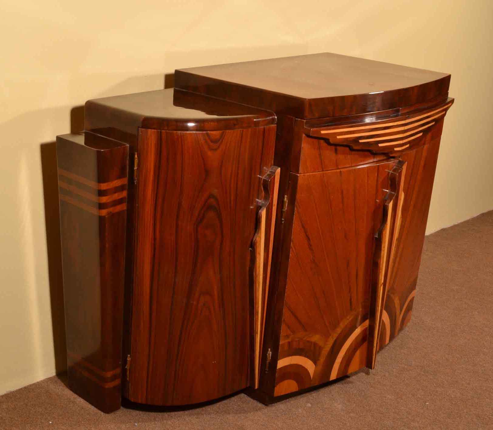 Art Deco Kitchen Cabinets: Art Deco 1920s Style Rosewood