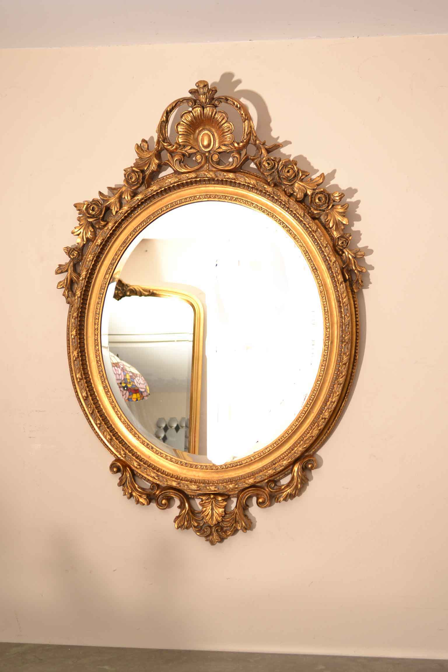 Regent antiques mirrors beautiful large italian gilded for Large fancy mirrors